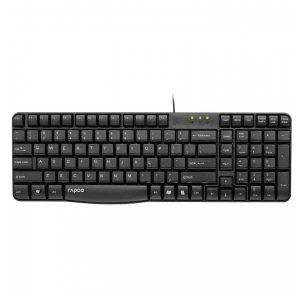 RAPOO N2400 BLACK WIRED USB KEYBOARD