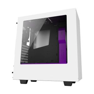 NZXT S340 Mid Tower White Gaming Casing