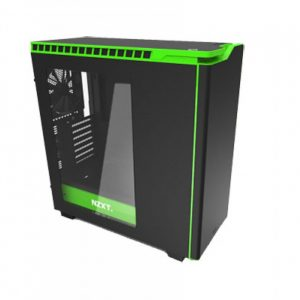 NZXT H440 MATTE BLACK & GREEN MID TOWER CASE