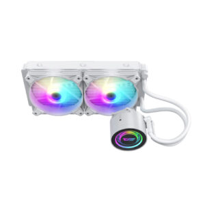 Aigo DarkFlash Twister DX240 White ARGB All-in-One 240mm Liquid CPU Cooler with Addressable RGB Fan